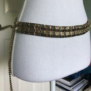 Zara Jewel Metal Chain Belt